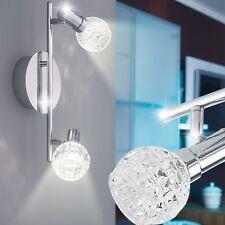 Glas 10W LED Decken Chrom Wand Spot Leuchte beweglich Strahler Lampe geschliffen