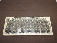 "VINTAGE 1955 20"" X 8"" FORT LEWIS WASHINGTON 72 D ARMY SOLDIERS MILITARY PHOTO"