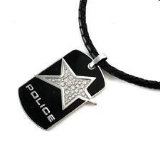 POLICE Herren Leder Band Kette geflochten Edelstahl Rock Star PJ21993PLB.02 >NEU