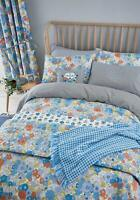 Helena Springfield PATSY Vintage Floral Blue Duvet Cover Set, Curtains / Cushion