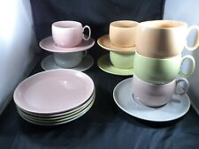 Vintage W.S. George Ranchero Dishes Multiple Colors Pastels 16 pcs. +