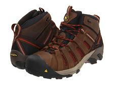 New Men's KEEN Utility Flint Mid Steel Toe Work Boot - BLACK/HENNA - 1007972