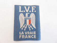 Vignette auto-collante de la L.V.F. Légion Volontaires Français