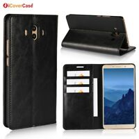 Luxury Genuine Leather Wallet Flip Case Cover Stand For Huawei Mate 10 Pro/Lite