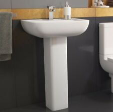 Options 600 550mm Full Pedestal Basin / Sink With Single Tap Hole