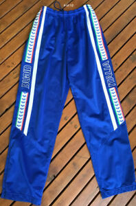 Mens Italia Team Italy Track Suit Sweat Casual Pants Soccer Blue Red Size XL XXL