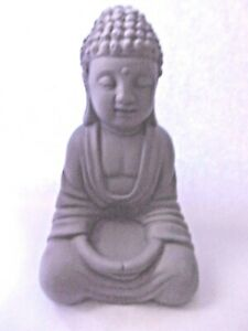 "Latex  sitting Buddha mold statuary garden mould  6""H x 3.5"" W"