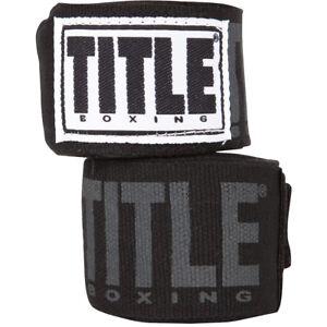 """Title Boxing Power-Flex Elite 180"""" Fist Wraps - Black"""