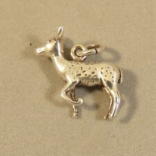 .925 Sterling Silver 3-D DEER CHARM NEW Pendant Animal Doe Female Fawn 925 AN97