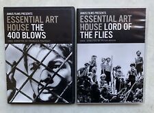 Janus Films Essential Art House Dvd Lot (2) Lord of the Flies, The 400 Blows