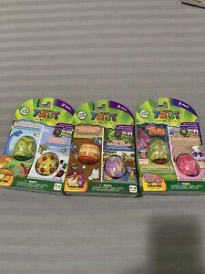 Lot of 3 Packs -  6Eggs Leapfrog Rockit Twist Game Pack Trolls Dinosaurs Animals