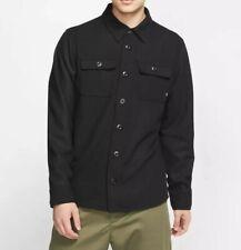 New listing Nike SB Skateboarding Holgate Winterized Black Button Up Wool Shirt Size S