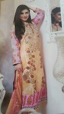 Indian/Pakistani Embroidered Lawn Designer Stitched Shalwar Kameez Suit (NEW)