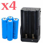 4x UltraFire 3000mAh 18650 Battery 3.7v Li-ion Rechargeable Batteries + Charger