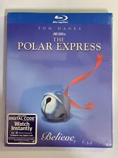 Polar Express (Blu-ray, 2020) New Tom Hanks with Collectors Slipcover Quick Ship