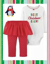 Carter's Baby Girl 12 Mo Best Christmas Ever Outfit