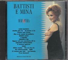 """"""" LUCIO BATTISTI E MINA """" CD 1992 ( ADRIANO PAPPALARDO FORMULA 3 BRUNO LAUZI )"""