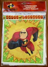 Disney Pixar The Incredibles Happy Birthday Celebration Banner 8 ft 5 in long
