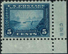 #403 PLATE FINISHERS INITIALS 1915 5c PERF10 PAN-PACIFIC ISSUE MINT-OG/NH