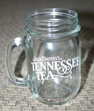 "Jack Daniel's Tennessee Tea Whiskey Old No. 7 4 3/4"" Mason Jar Drinking Glass"