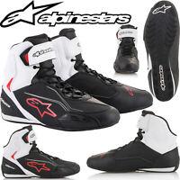 ALPINESTARS Motorradschuhe FASTER 3 schwarz weiß rot Sneaker Mesh-Futter Gr. 46