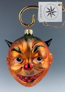 "CHRISTOPHER RADKO HALLOWEEN ORNAMENT PUMPKIN HEAD DEVIL 4"""