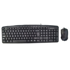 QWERTY KEYS Wired Multimedia Modern Mice & Keyboard Set with Media Shortcut Keys
