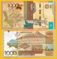 Kazakhstan 1000 Tenge p-46a 2014 (Prefix AA) UNC Banknote