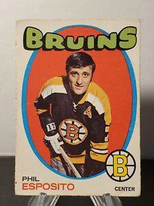 1971-72 O-Pee-Chee Set Break #20 Phil Esposito Boston Bruins