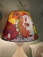 Handmade Coolie Lampshade Kaffe Fassett Lotus Leaf Antique fabric 30cm