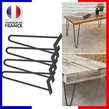 4pcs pieds de table en fer noir accessoires de maison pour le bricolage 12 inch