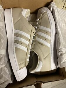 adidas superstar mens size 14 clear brown Gold Rare