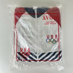 1990'S Nos New Team Usa Olympic Nylon Womens Windsuit Pants Jacket Small