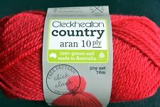 5 x 50gm balls 10 ply Cleckheaton Country Pure Wool - Red