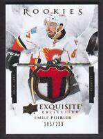2015-16 Exquisite Collection #R-EP Emile Poirier Rookies Patch 185/299 Flames