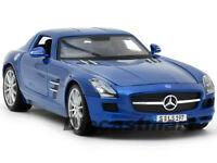 MAISTO 1:18 MERCEDES BENZ SLS AMG NEW DIECAST MODEL CAR METALLIC BLUE