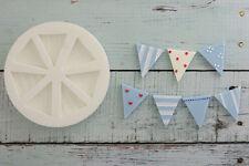Silicone Mould, Bunting, Flags, Nautical, Food Grade Ellam Sugarcraft M012