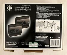 Get Smart Professional TwinCamera Black & White Wired CCTV System Boxed - B11