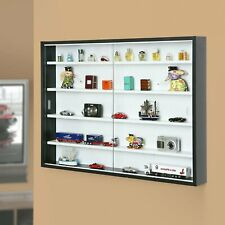 Display Cabinet Glass Wall Storage Collecty Laminated Pressboard
