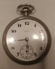 Vintage Elgin pocket watch, Keystone Silveroid case, 15 jewels