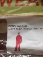 """Click Red Mens Polycotton Work Overalls Coveralls Boiler Suit zip and stud 36"""""""