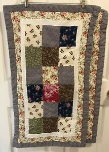 King pillow Shams Floral Patchwork Country Chic Shabby Cotton Multi-Color Pr JCP