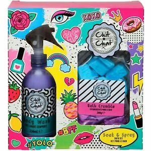 Chit Chat Bath Gift Set Body Wash & Bath Crumble Girls Stocking Filler 99411