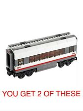 2 X LEGO CITY TRAINS, MIDDLE CARRIAGE SPLIT FROM SET 60051 HIGH-SPEED TRAIN. NEW