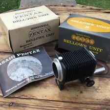 Honeywell Pentax Auto Bellows M42 Screw Mount Original Box Vintage Photography