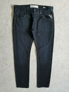 Mens Replay MASIG Slim Fit Dark Blue Selvedge Denim Jeans W36 L34