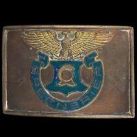 Vtg 40s Antique Greenbrier Military School Academy West Virginia Belt Buckle