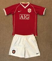 Boys Manchester United home football kit size 12-13 years Nike 2006-2007