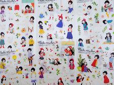 6 pages Korean Zakka girl & animal stickers! Kawaii polar bear, cats white goose