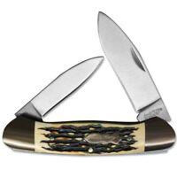 Schrade Uncle Henry Large Canoe Pocket Knife 7Cr17 Steel Blade Staglon Handle